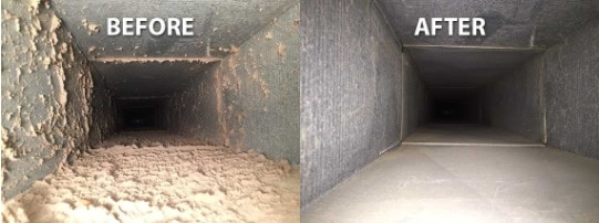 Duct Work Before And After